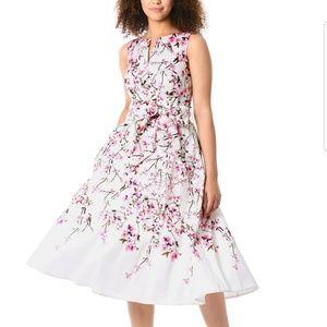 Eshakit Cherry Blossom dress pink bow tie Size L
